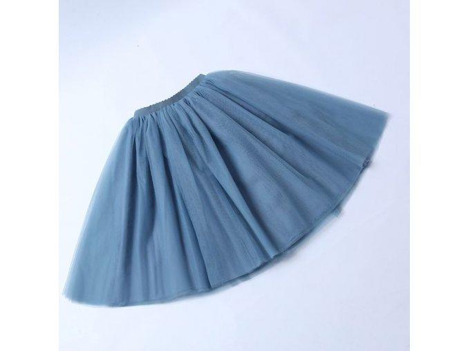 TUTU tylová sukně dámská modrošedá 65 cm.1