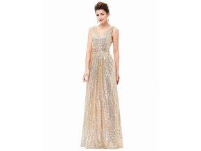 zlaté flitrové šaty