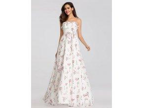 Letní květinové šaty Ever-Pretty EP07242WH Bílé