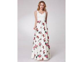 Letní květinové šaty Ever-Pretty EP07218WH Bílé