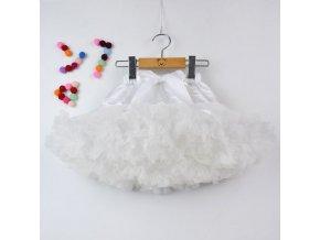 Dívčí TUTU PETTI sukýnka - bílá