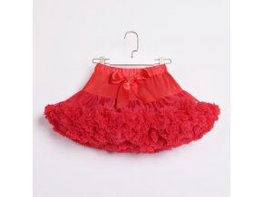 Dívčí TUTU PETTI sukýnka - červená