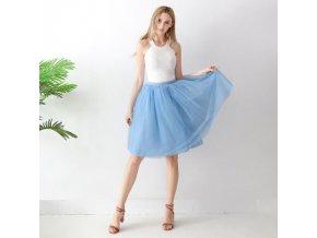 TUTU tylová sukně dámská modrá 65 cm