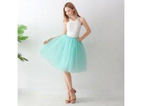 TUTU tylová sukně dámská světle tyrkysová 65 cm