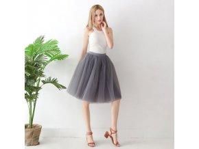 TUTU tylová sukně dámská šedá 65 cm