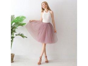TUTU tylová sukně dámská starorůžová 65 cm