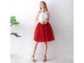 TUTU tylová sukně dámská tmavě červená 65 cm