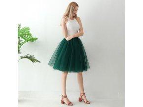 TUTU tylová sukně dámská zelená 65 cm