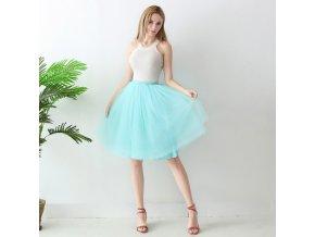 TUTU tylová sukně dámská tyrkysová 65 cm