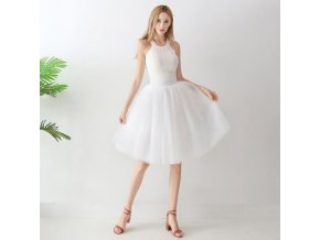 TUTU tylová sukně dámská bílá 65 cm