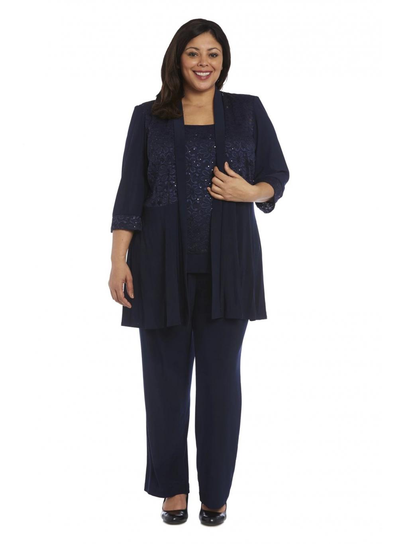 modry kalhotovy kostymek elasticky pruzny spolecensky svatebni maminky firemni meeting
