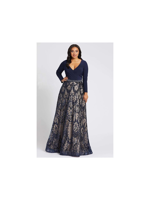 luxusni saty modre s nadhernou stylovou sukni plesove na svatbu s dlouhymi rukavy