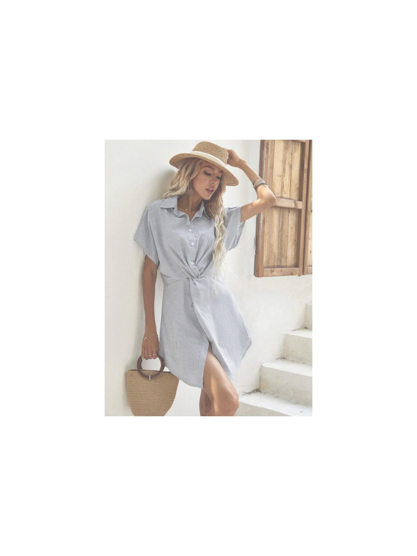 stylove letni saty kosile kratke bavlnene na plaz do prace