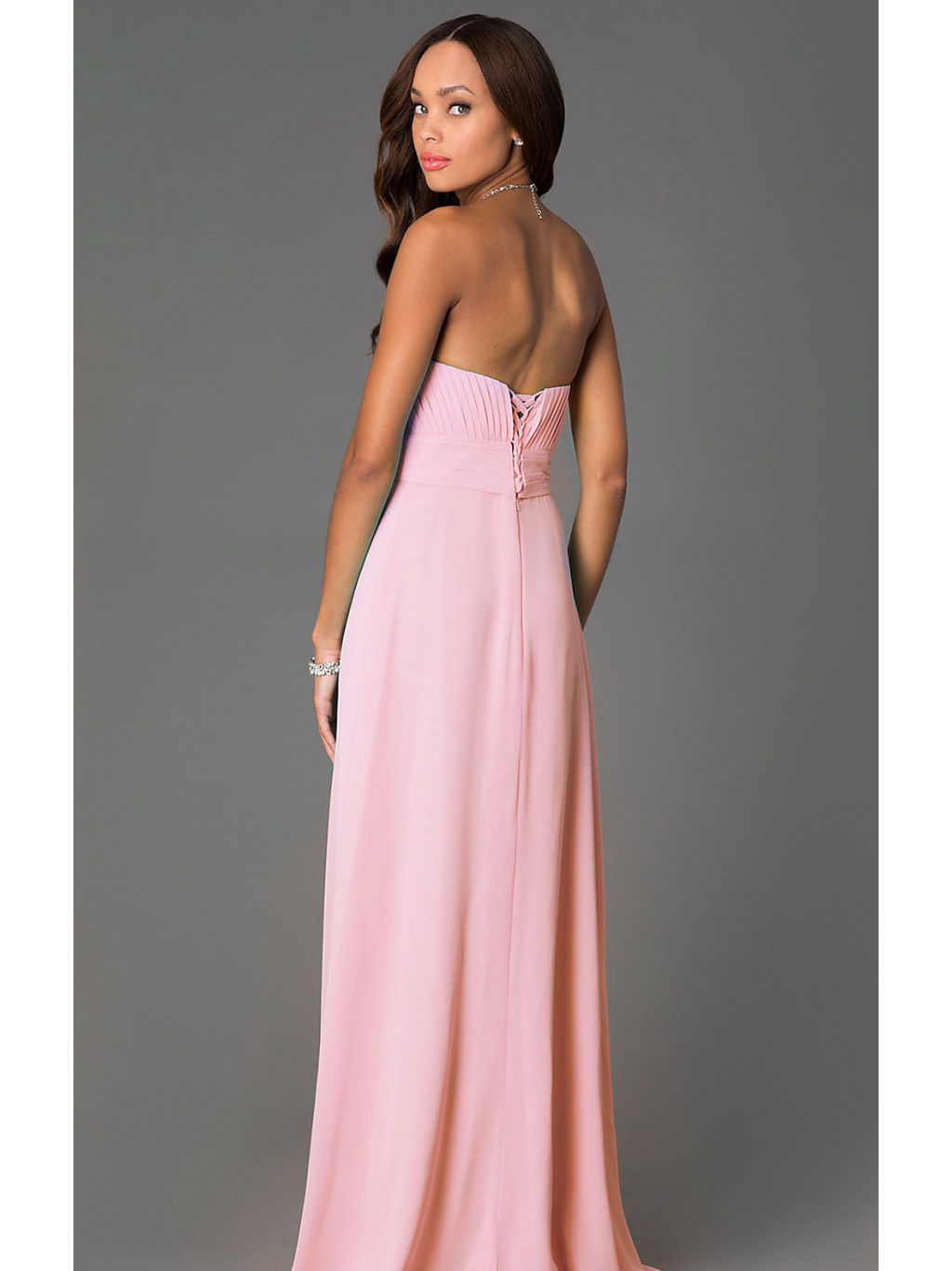 Elegantní dlouhé šaty na svatbu růžové - Glamor.cz 758b4219442