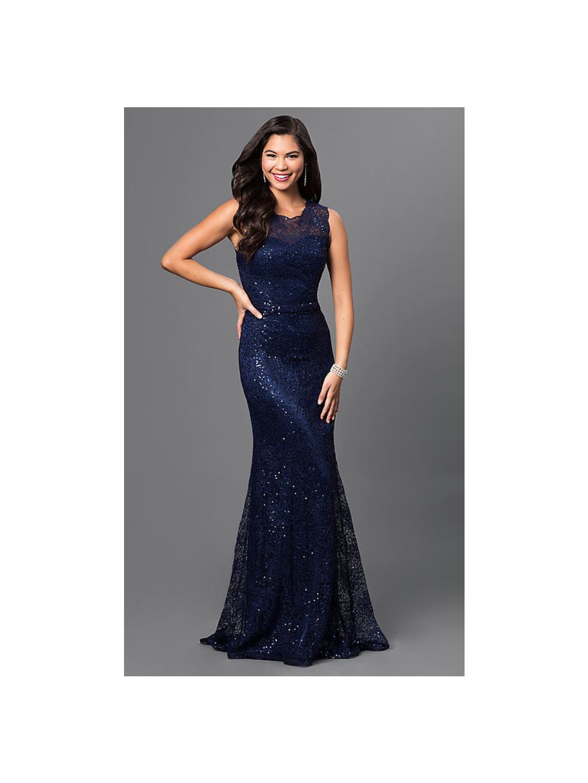 d28c024e488 Luxusní modré plesové šaty - Glamor.cz