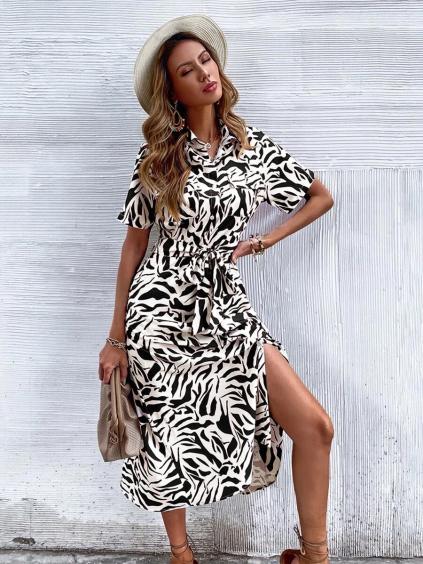 AFRIC BLACK&WHITE SHIRT DRESS