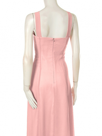 Růžové dlouhé společenské šaty s krajkovým kabátkem