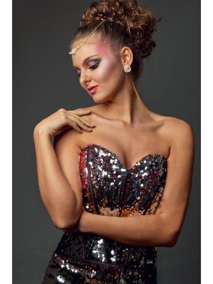 Magické zářivé šaty s flitry