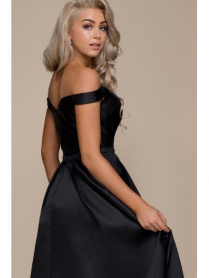 Dlouhé plesové šaty s odhalenými rameny