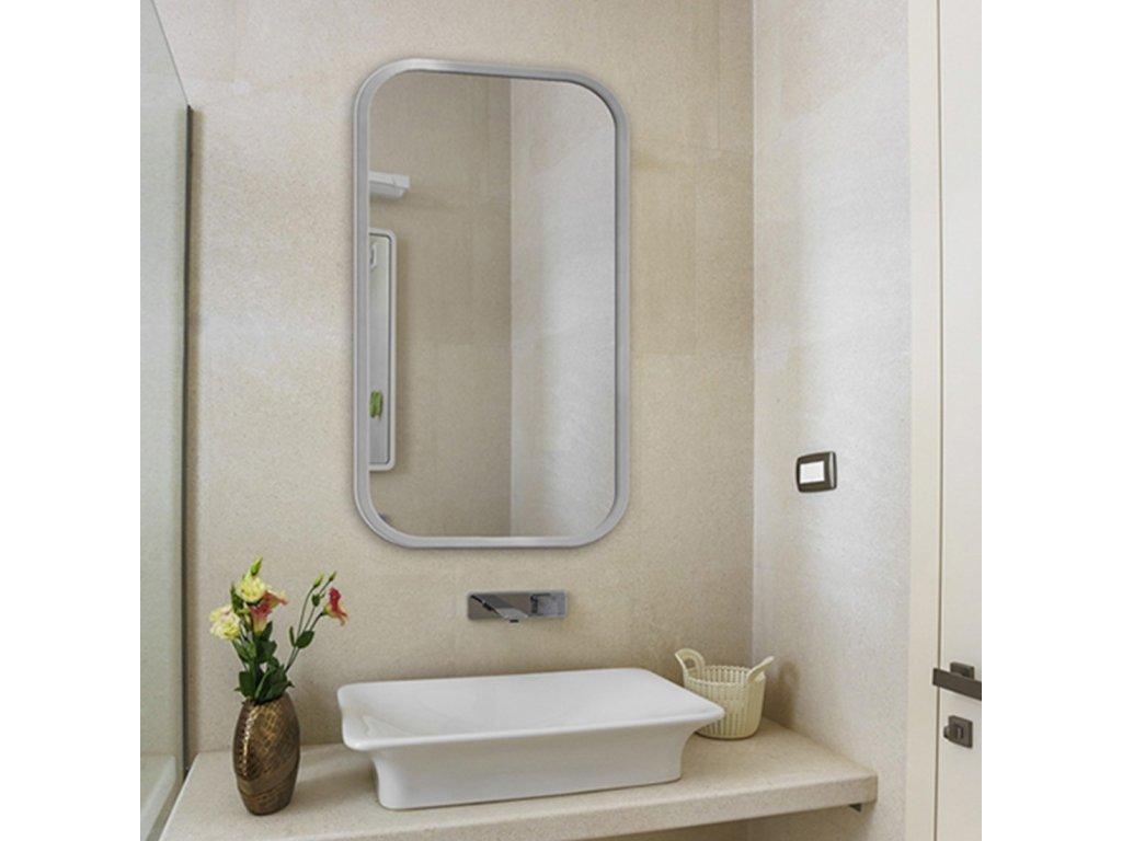 Dizajnové zrkadlo Mirel strieborné - Glamour Design 1