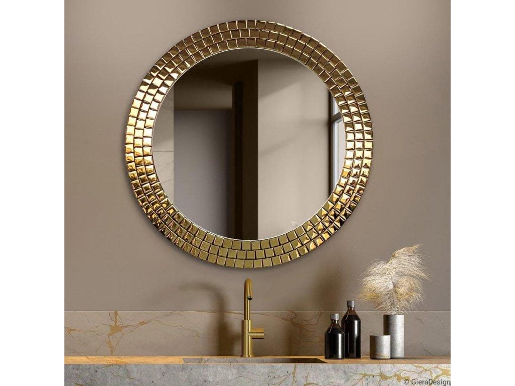 Zrkadlo Aurora Gold - Glamour Design 1