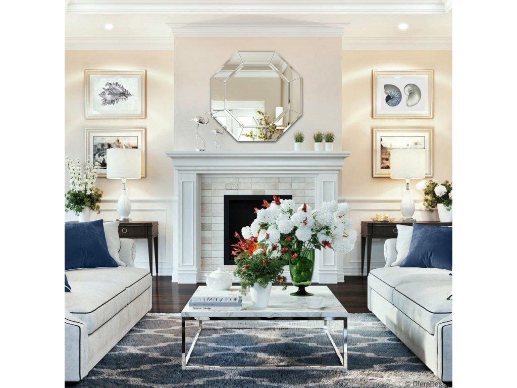 Zrkadlo Cristal Octagon - Glamour Design 4