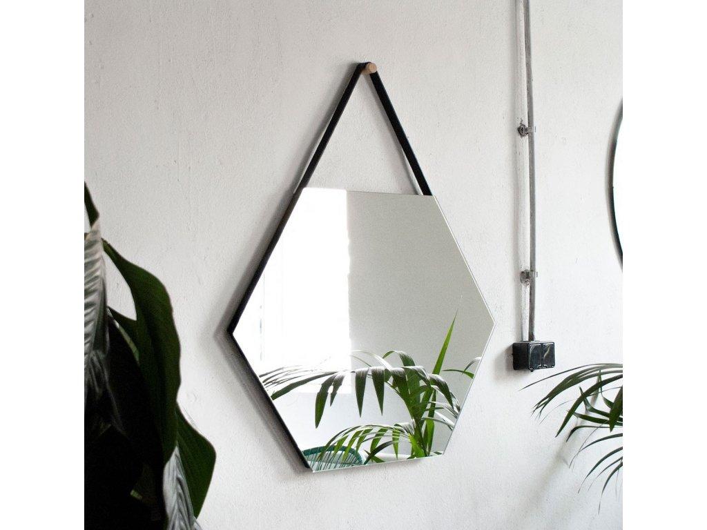 Zrkadlo Heksagon Belt - Glamour Design 1