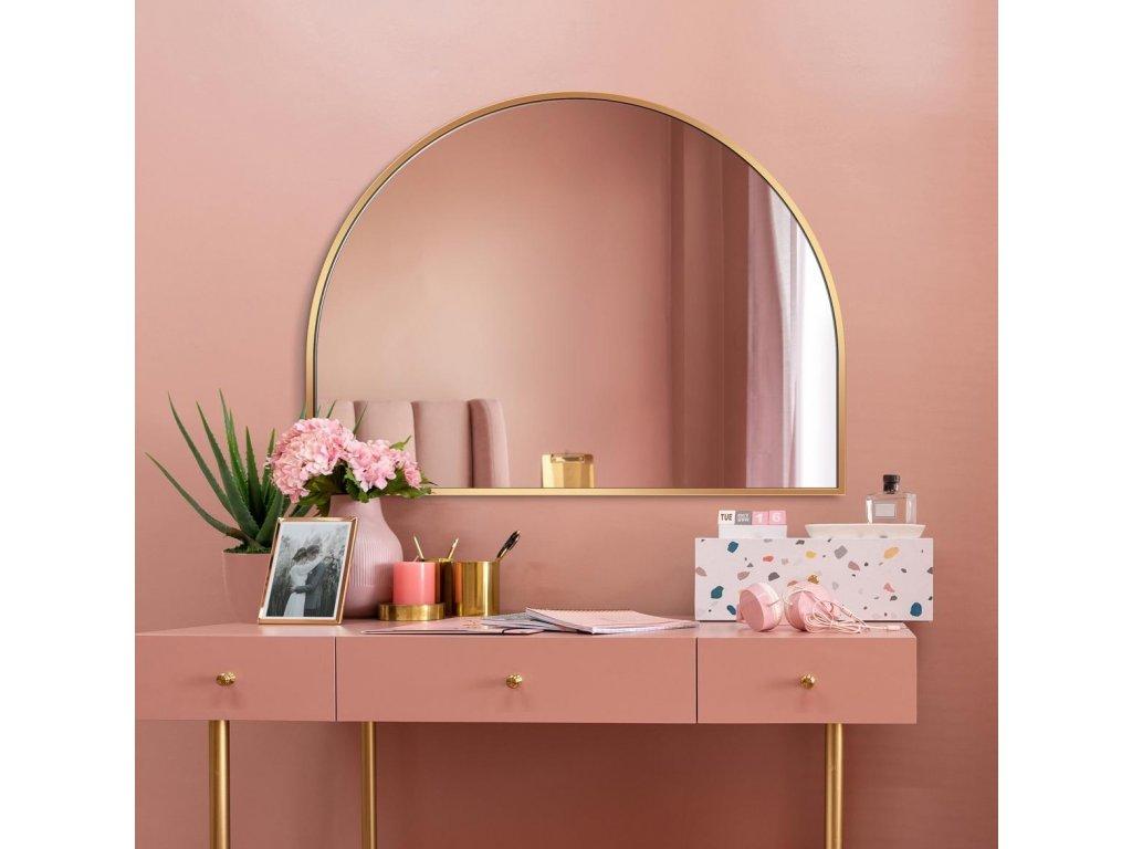 Zrkadlo Portal slim gold - Glamour Design 1