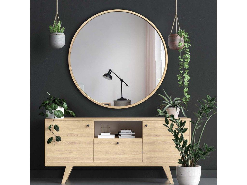 Zrkadlo Scandi wood 90 cm - Glamour Design 1