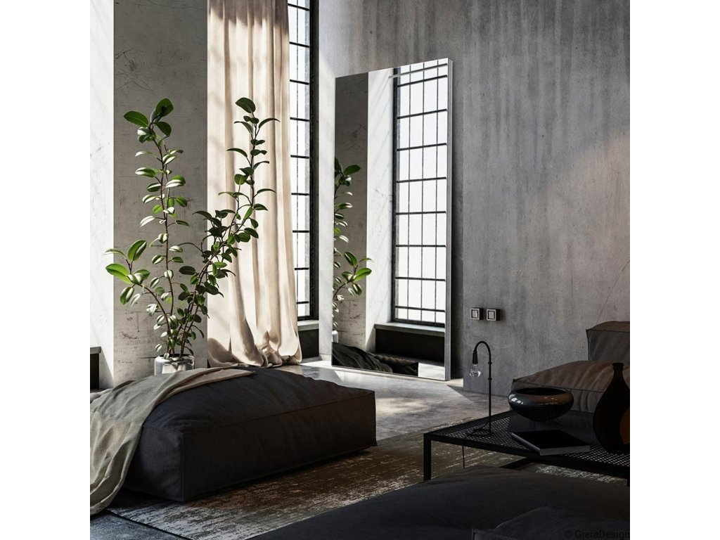 Zrkadlo Silver Block Opti white - Glamour Design 1