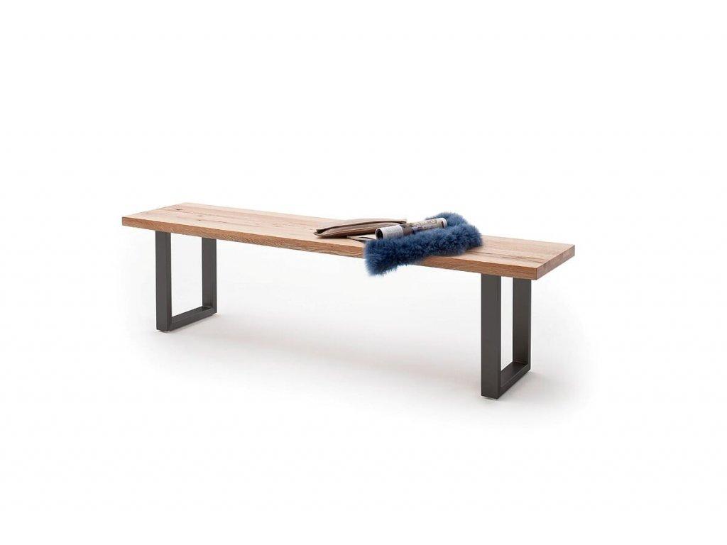 Jedálenská lavica Castello dub divoký antracit - Glamour Design 1