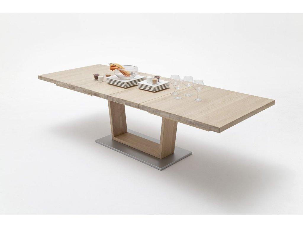 Jedálenský rozkladací stôl Cantania A dub bianco - Glamour Design 1