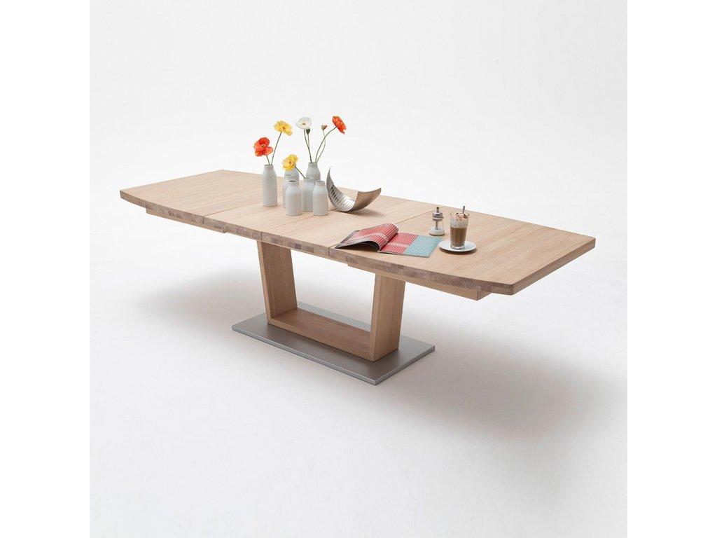 Jedálenský rozkladací stôl Cantania B dub bianco - Glamour Design 1