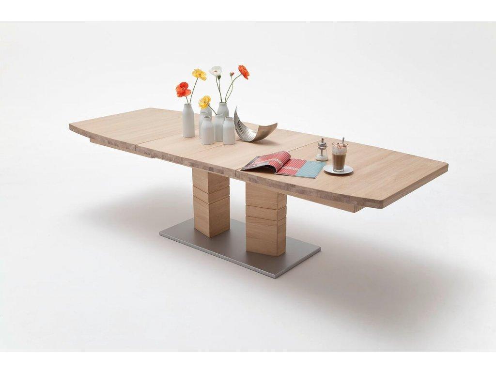 Jedálenský rozkladací stôl Cuneo B dub bianco - Glamour Design 1