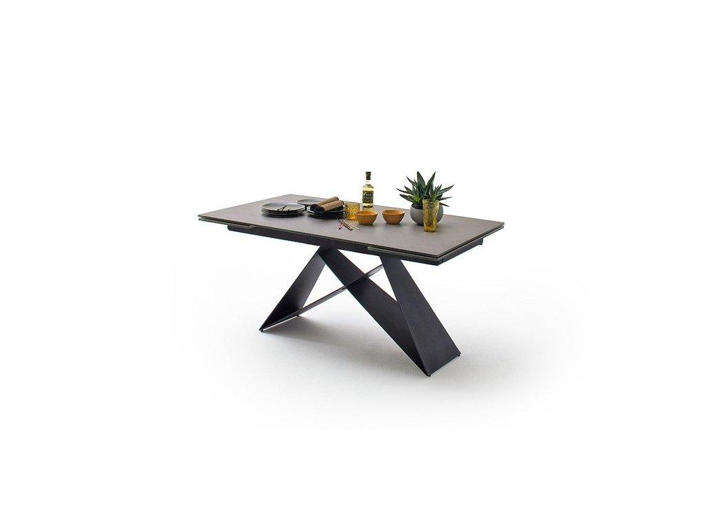 Jedálenský rozkladací stôl Kobe antracit - Glamour Design 1
