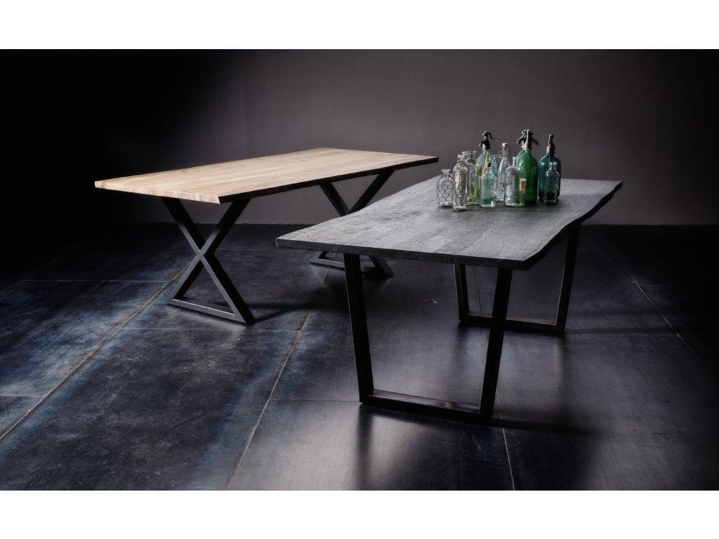 Jedálenský stôl Calabria podnož X antik - Glamour Design 1