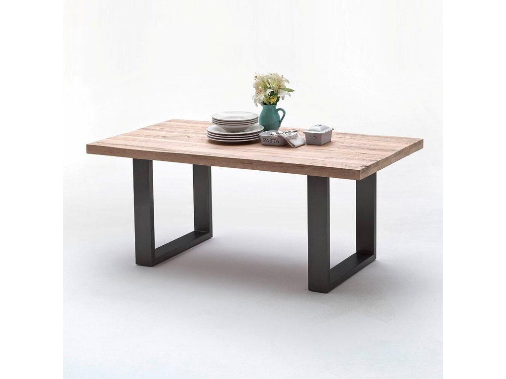 Jedálenský stôl Castello dub bielený antracit - Glamour Design 1