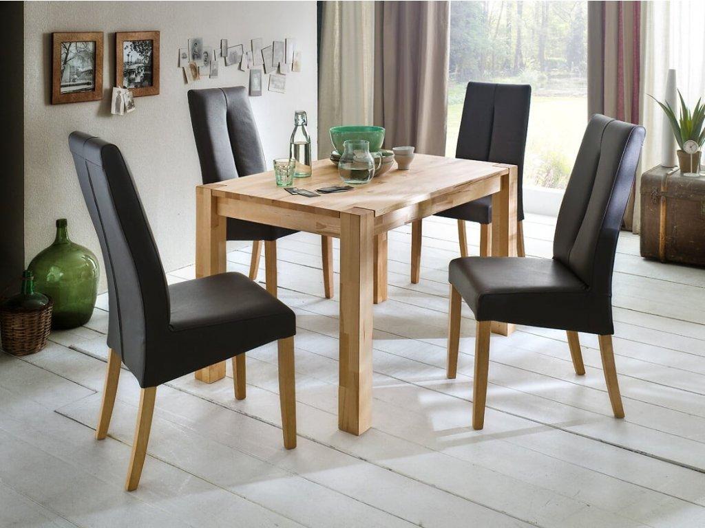 Jedálenský stôl Peter buk jadrový - Glamour Design 1