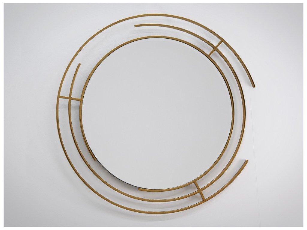 Dizajnové zrkadlo Drury gold - Glamour Design 1