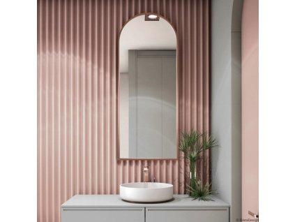 Zrkadlo Portal Slim Copper (Rozmer 90 x 70 cm)