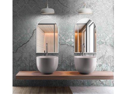 Zrkadlo Portal slim white - Glamour Design 1