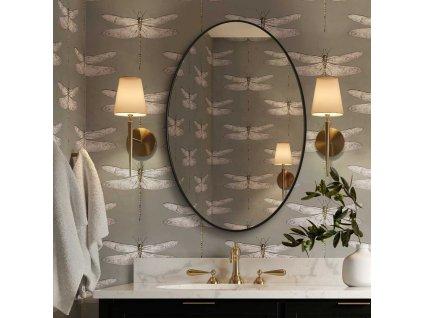 Zrkadlo Scandi slim owal black - Glamour Design 1