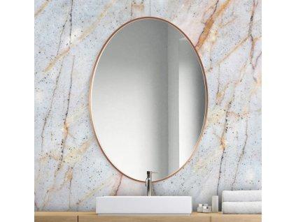 Zrkadlo Scandi slim owal cooper - Glamour Design 1