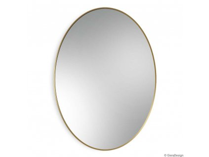 Zrkadlo Scandi slim owal gold - Glamour Design 1