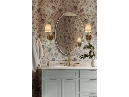 Zrkadlo Scandi slim owal white - Glamour Design 1