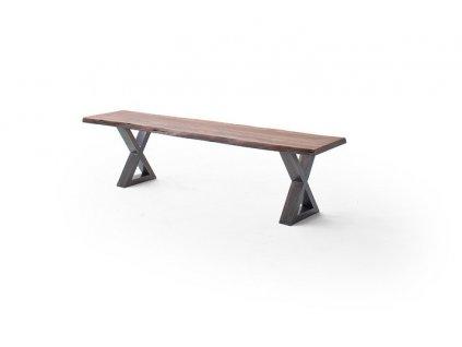 Jedálenská lavica Calabria podnož X antik - Glamour Design 1