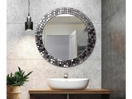 Zrkadlo Aurea silver - Glamour Design 1