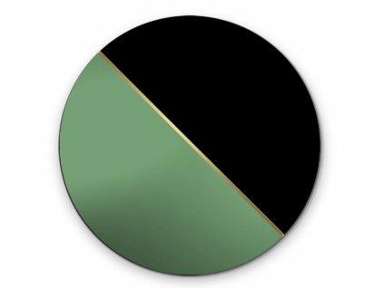 Zrkadlo Demi Green (Rozmer Ø 90 cm)