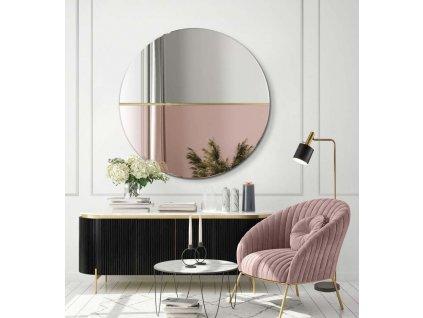 Zrkadlo Demi rose gold - Glamour Design 1