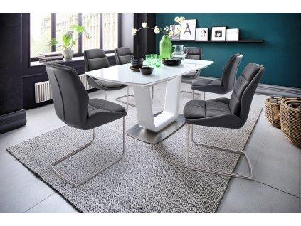 Jedálenský rozkladací stôl Xander sivý - Glamour Design 1